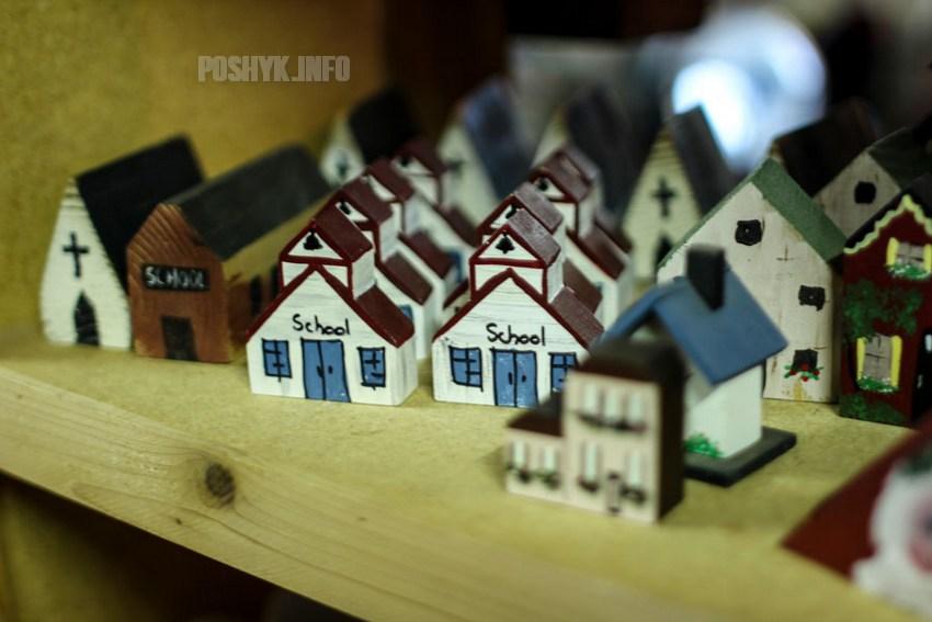 набор церквей и домиков