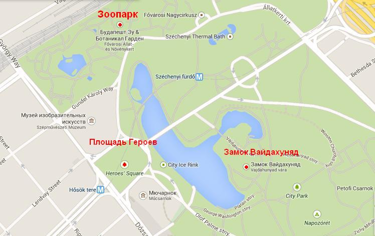 Зоопарк будапешта на карте маршрут