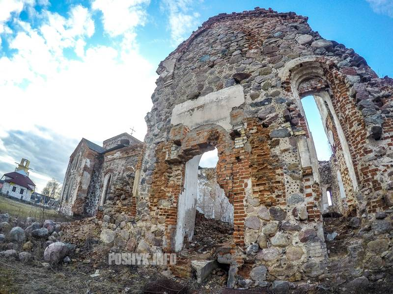 Церковь руины Бегомль