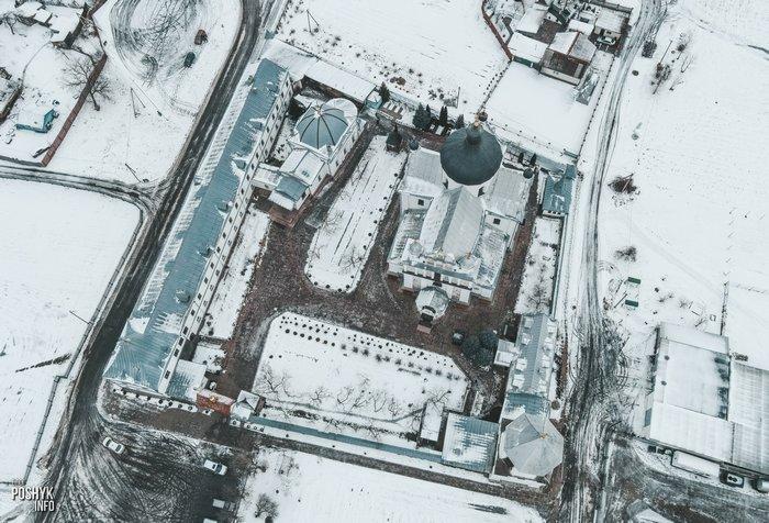 Монастырь в Могилеве с дрона