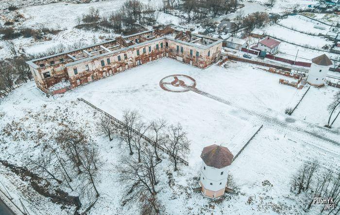 Руины замка в Быхове