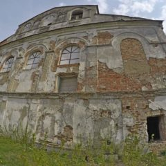Руины синагоги в Кобрине