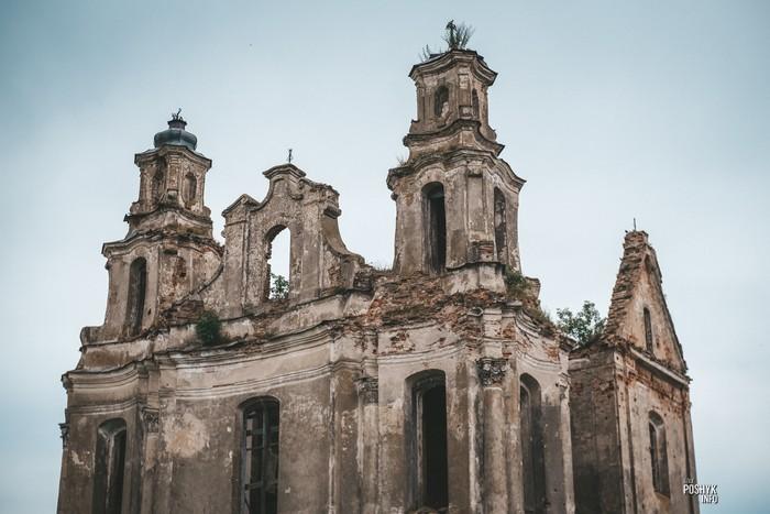 Руины костелов в Беларуси