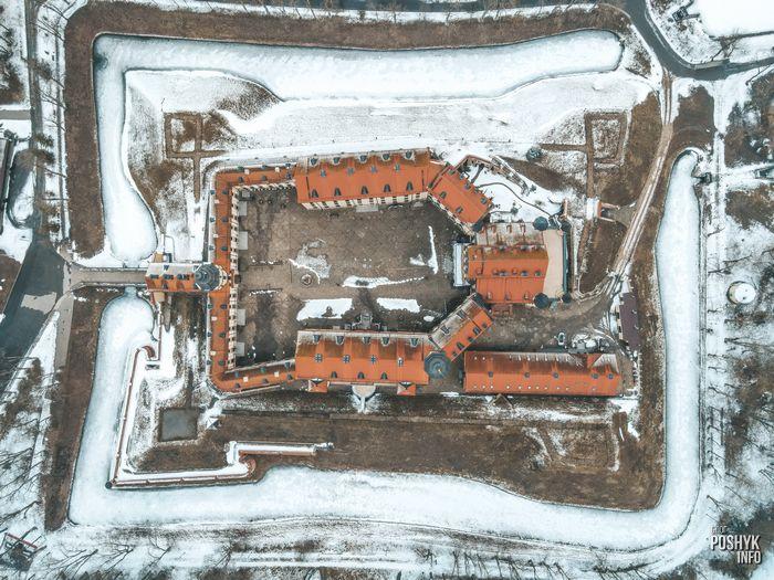Дворец Радзивиллов с воздуха