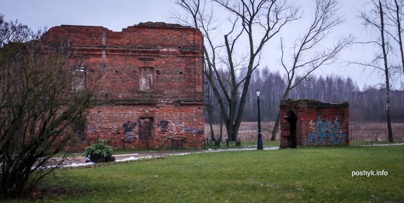 руины мельницы в лошицком парке