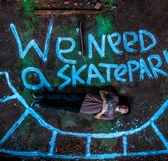 Skateboarding stop-motion «We need a skatepark»