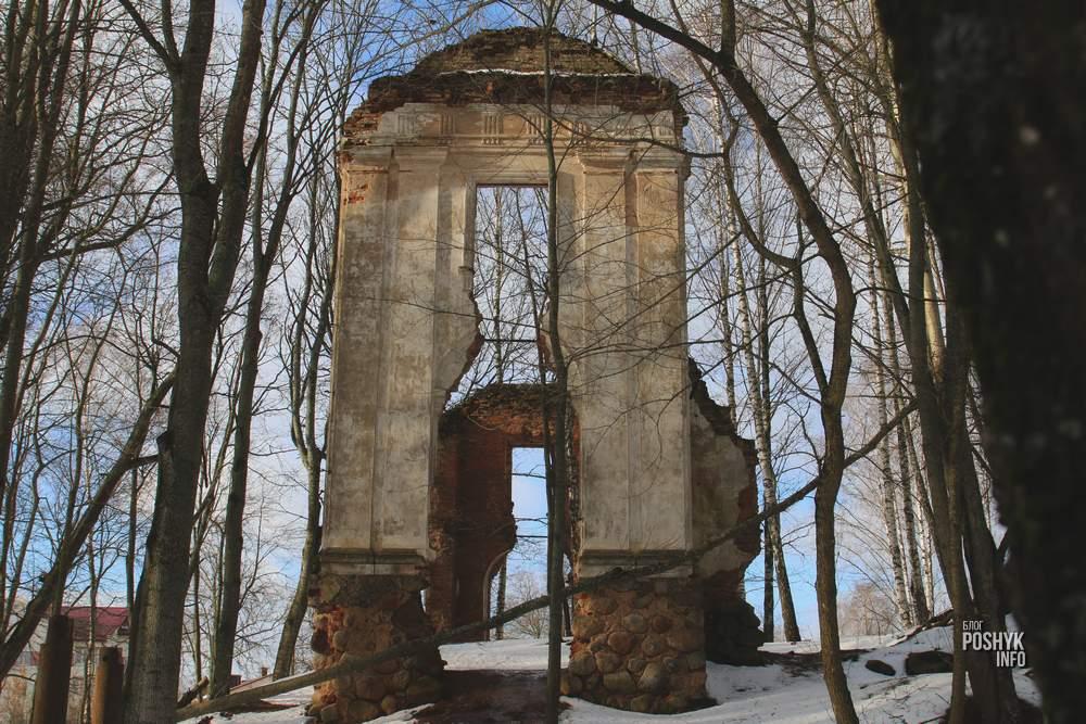 руины усадьбыТышкевичей