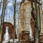 Руины усадьба Тышкевичей в Логойске