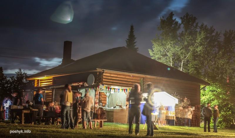 ночью фестиваль сонца