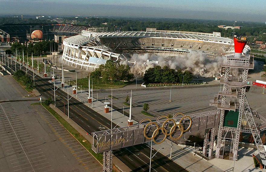 демонтаж стадиона в Атланте летние игры 1996 года