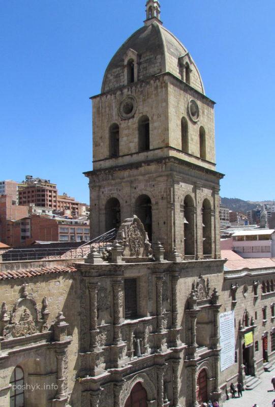 Улочка  в городе Ла-Пас Боливия