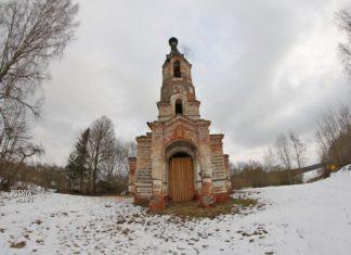 Руины Николаевской церкви в агрогородоке Слободка