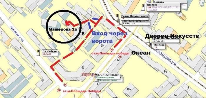 карта проезда к тиру на машерова 3 а
