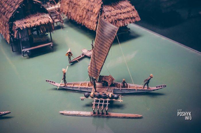 миниатюра поселения индейцев