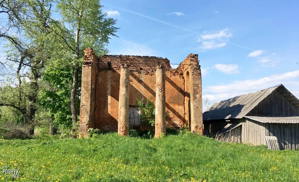 Заброшенная церковь святых Петра и Павла в деревне Старинки