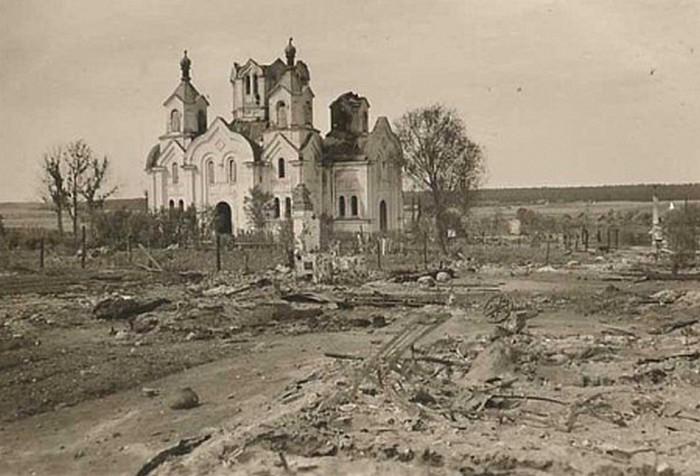Старое фото церковь в Бешенковичах
