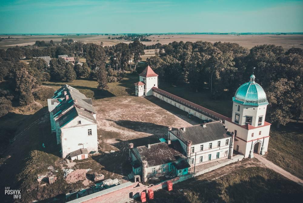 Любчанский замок Кишек и Радзивиллов в Любче