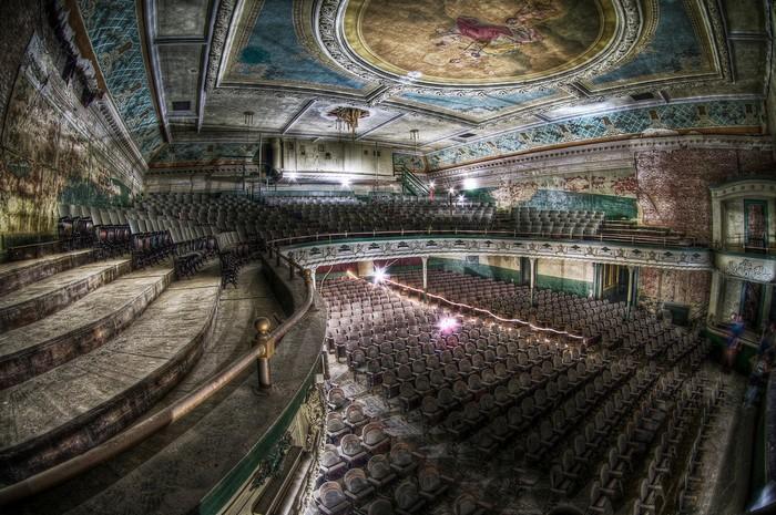 New Bedford Orpheum Theatre. Заброшенное здание театра