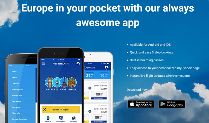 приложение Ryanair