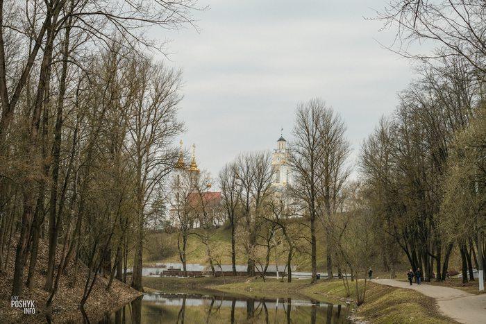 Набережная вдоль реки Витьба