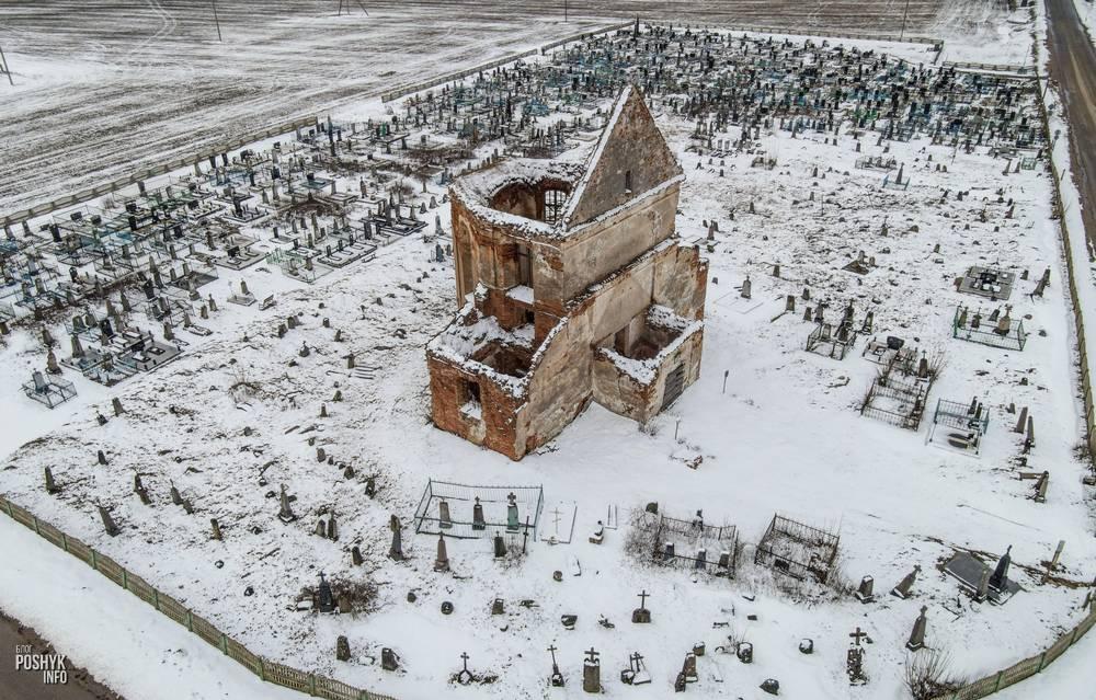 Развалины костела в деревне Новые Новоселки