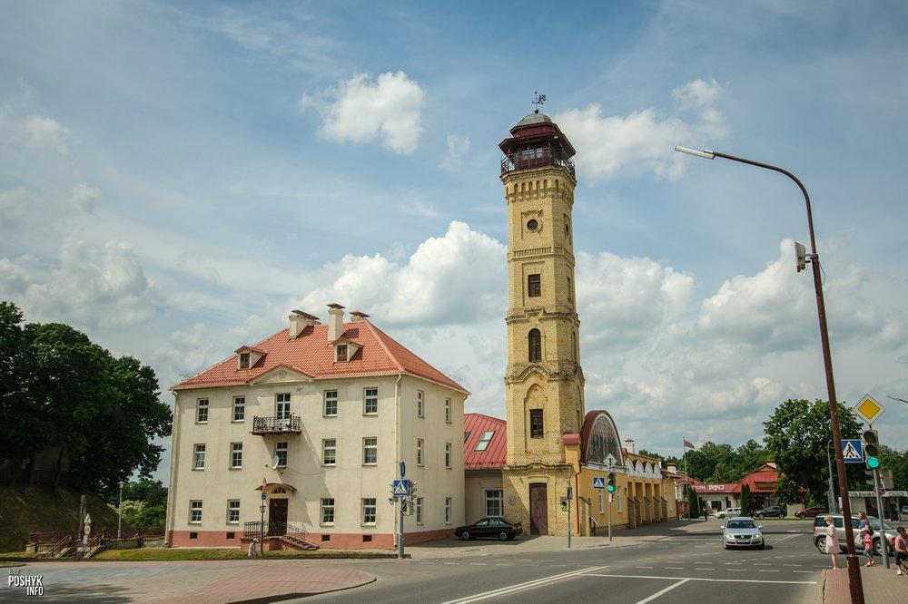 Пожарная каланча, музей МЧС и необычный барельеф в Гродно
