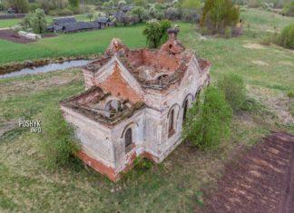 Заброшенная церковь Сретенская в деревне Мосар