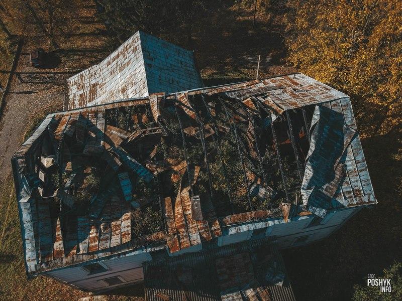 Сгоревшая усадьба Гартингов в агрогородке Снов