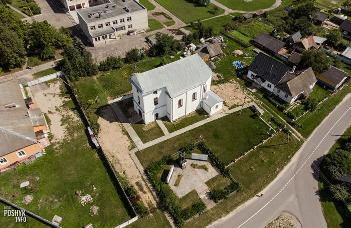 Костел святой Варвары в деревне Замостье