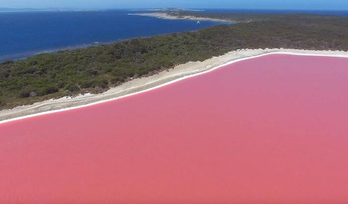 озеро Хиллиер в Австралии