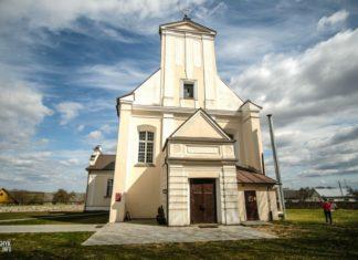 костел в деревне Геранены