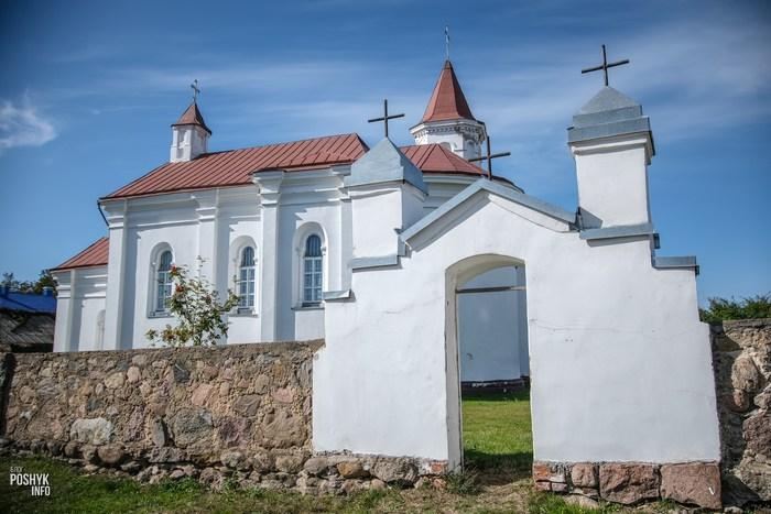 Брама костела в Городище