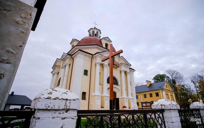 Костел в городе Мядель