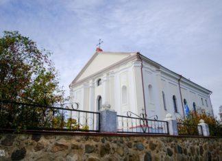 Костел Девы Марии в агрогородке Удело