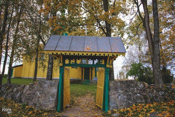 Ворота в деревне Осингородок