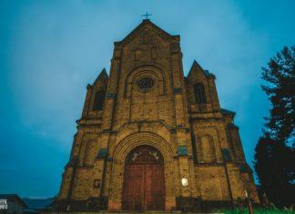 Крестовоздвиженский костел в городе Островец