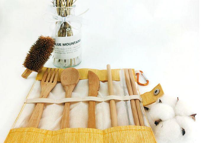 Набор бамбуковых столовых приборов