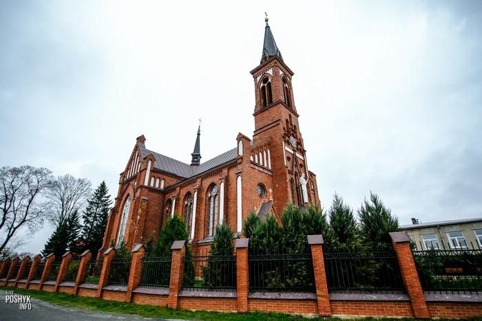 Костел в городе Поставы