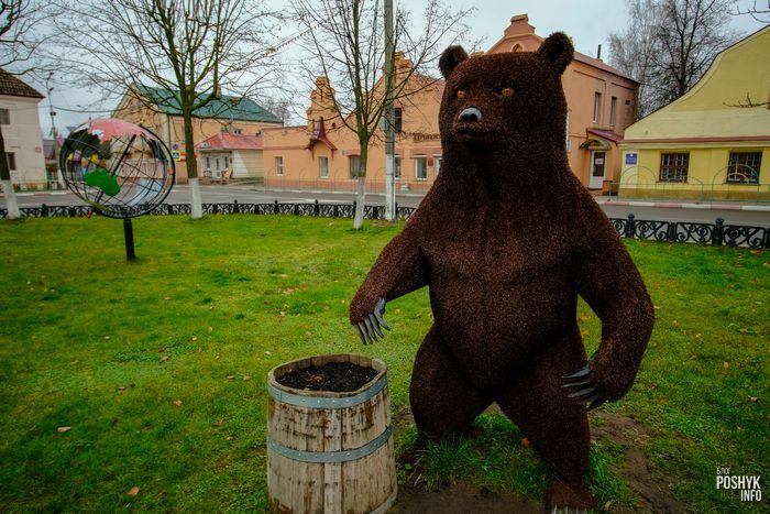 Фигура медведя в Поставах