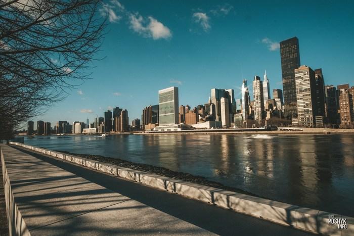 Вид на Манхетен с Острова Рузвельта
