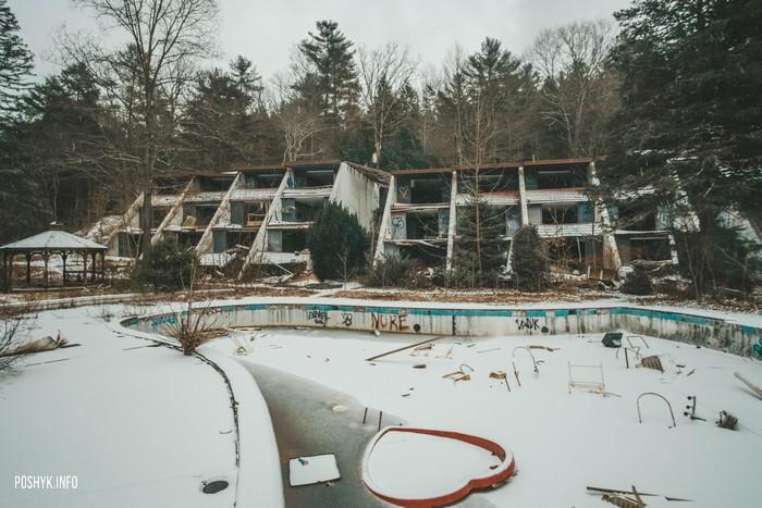 Заброшенный отель в Пенсильвании