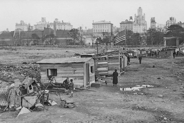 История центрального парка в Нью-Йорке
