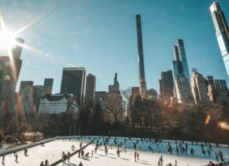 Центральный парк в Нью-Йорке каток