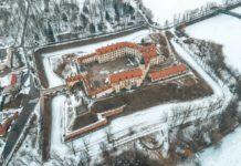 Дворец Радзивиллов в Несвиже с воздуха