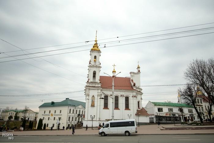 Церковь в центре Витебска