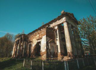 Заброшенный костел святого Казимира в Рясно, Могилевская область