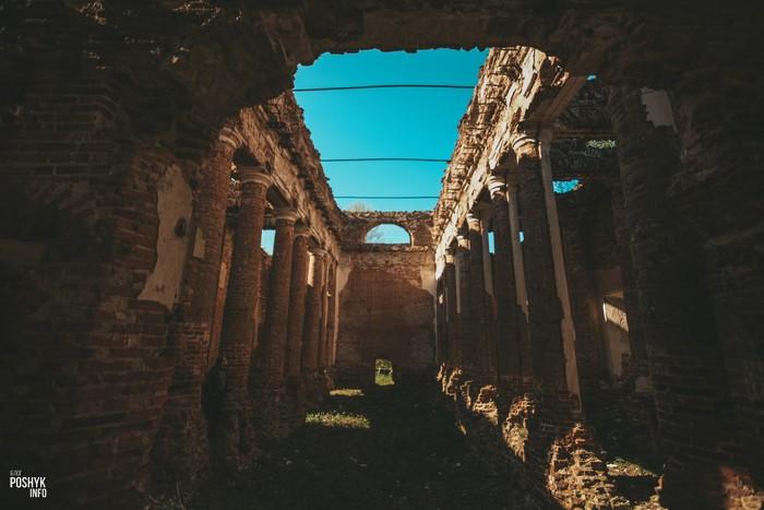 Руины костела в Рясно
