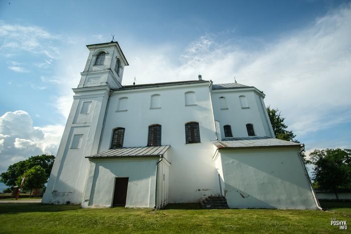 Католический храм в деревне Ищелно