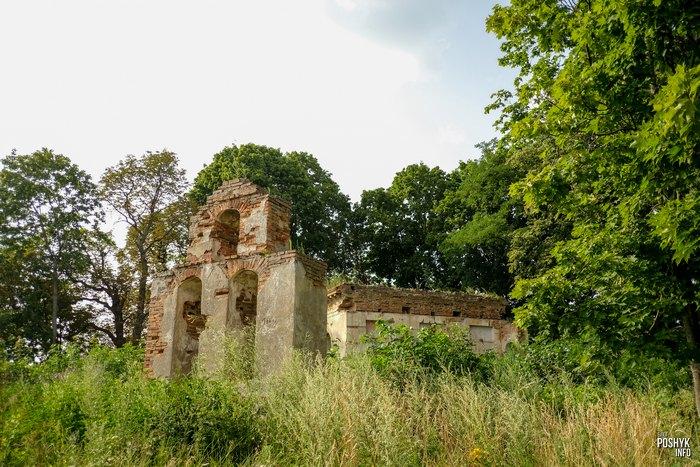 Руины Беларуси церковь в деревне Круглое