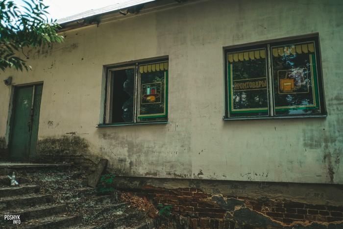 Заброшенный магазин в поселке Линово